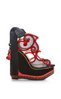 The Great Wedge Of China Embellished Platform Wedge Sandals by CHARLOTTE OLYMPIA Now Available on Moda Operandi