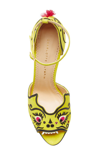 Martia Embroidered Suede Platform Sandals by CHARLOTTE OLYMPIA Now Available on Moda Operandi