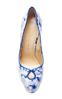 Koi Printed Patent Leather Platform Pumps by CHARLOTTE OLYMPIA Now Available on Moda Operandi