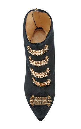 Lock Down Betsy Velvet Boots by CHARLOTTE OLYMPIA Now Available on Moda Operandi