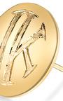 Mannin Fine Jewelry 18 K Gold Monogram Earrings by MANNIN FINE JEWELRY for Preorder on Moda Operandi