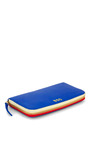 Clare V. Cobalt Zip Wallet by CLARE V. for Preorder on Moda Operandi