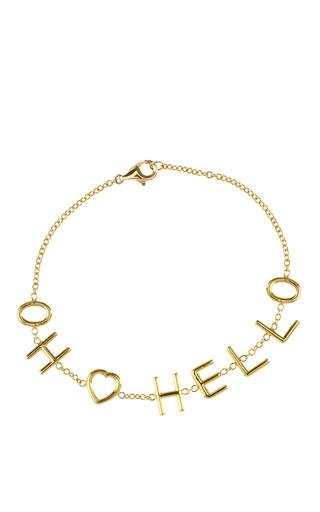 Medium irene danilovich gold irene danilovich customizable 7 letter bracelet