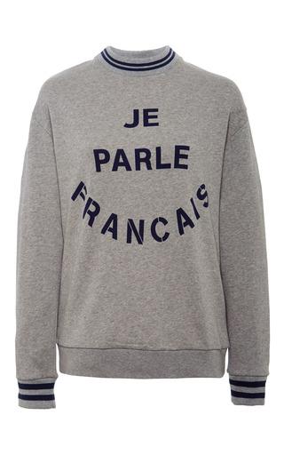 Medium etre cecile dark grey je parle francais boyfriend sweatshirt