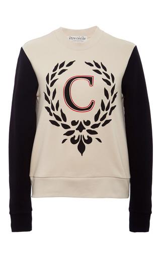 Medium etre cecile white wreath c slim fit sweatshirt