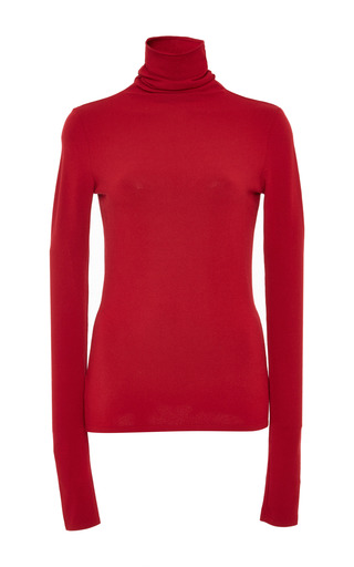 Medium giambattista valli red mock neck knit 3