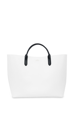 Medium smythson white limited edition quentin jones large classic tote
