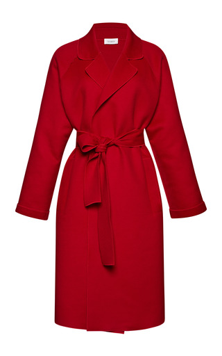 Medium isa arfen red double breasted raglan sleeve coat 4
