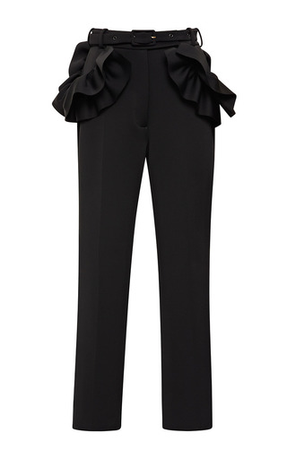 Medium simone rocha black jersey frill trousers 2