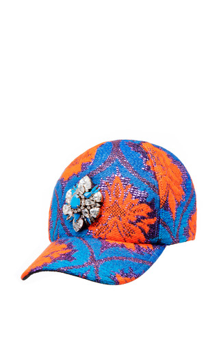 Blue & Orange Cap In Blue And Orange by SHOUROUK for Preorder on Moda Operandi