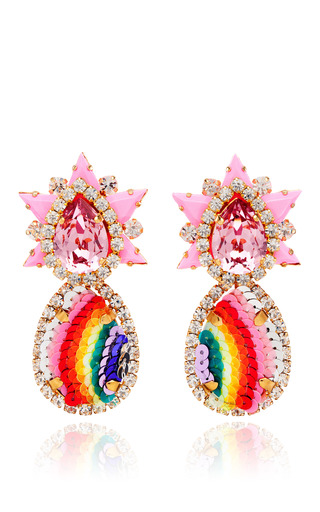 Medium shourouk multi galaxy sequin earrings in rainbow