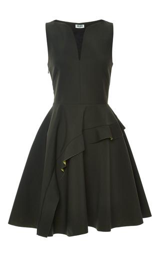 Medium kenzo green v collar sleeveless dress