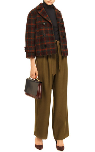 Lindberg Belted Wool Twill Pants by ROSIE ASSOULIN Now Available on Moda Operandi