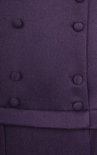 Purple Wool And Silk Skirt by BARBARA CASASOLA for Preorder on Moda Operandi