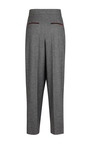 Salt And Pepper Wool Suit Trouser by BARBARA CASASOLA for Preorder on Moda Operandi