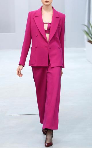 Medium barbara casasola pink pink wool suit blazer