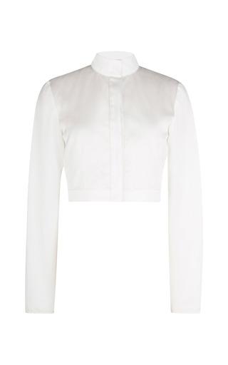 Medium barbara casasola white white cotton and silk top