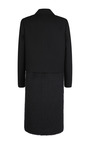 Black Wool Blend Coat by BARBARA CASASOLA for Preorder on Moda Operandi