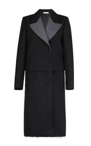 Medium barbara casasola black black wool blend coat