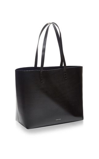 Large Leather Tote In Black by MANSUR GAVRIEL Now Available on Moda Operandi