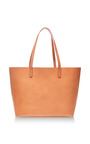 Large Leather Tote In Caramel by MANSUR GAVRIEL Now Available on Moda Operandi