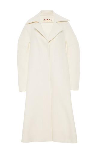 Medium marni white washed felt coat