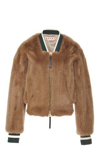 Medium marni brown mink fur jacket