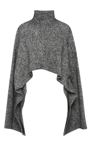 Medium marni black cropped sweater cape