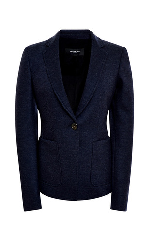 Medium derek lam blue jersey blazer with pockets