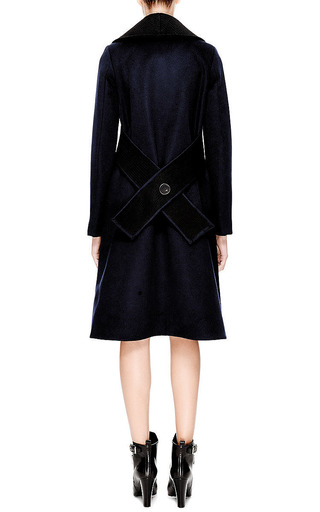 Crochet Collared Wool Blend Coat by DEREK LAM Now Available on Moda Operandi
