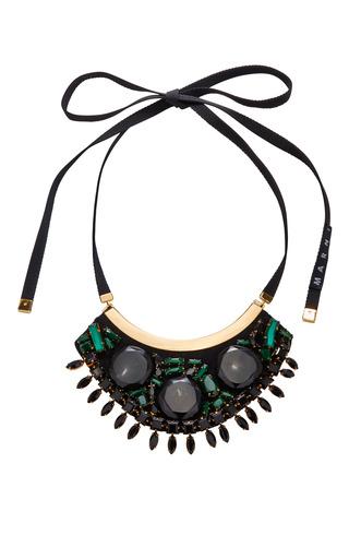 Medium marni dark grey horn necklace
