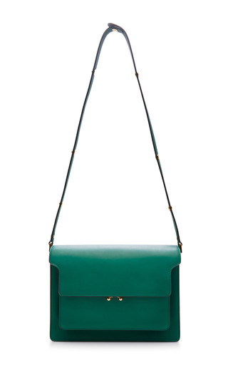 Medium marni green green shoulder bag