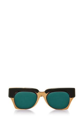 Medium marni green sunglasses brooch