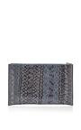 Zip Top Snakeskin Clutch by ROCHAS Now Available on Moda Operandi