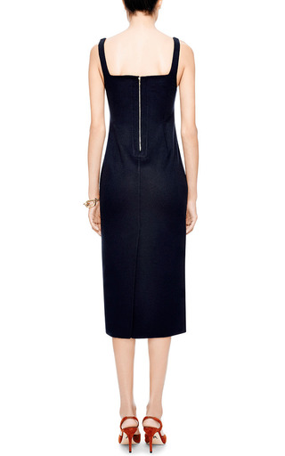 Double Face Wool Blend Midi Dress by ROCHAS Now Available on Moda Operandi
