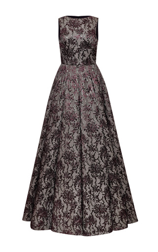Medium rochas multi printed sleeveless long dress