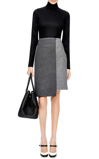 Boiled Wool Faux Wrap Skirt by SUNO Now Available on Moda Operandi