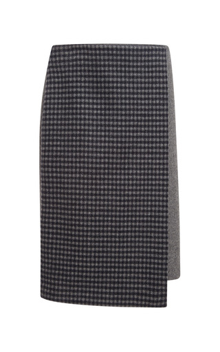 Medium suno multi checkered staggered wrap skirt