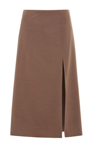 Medium marc jacobs brown a line skirt with slit