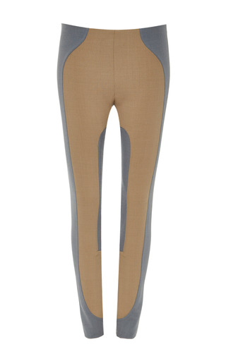 Medium marc jacobs brown legging with quilting detail front zip