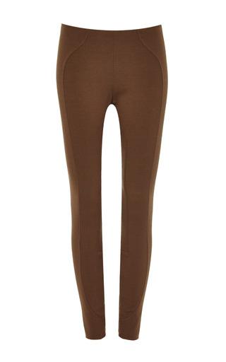 Medium marc jacobs brown legging w front yoke zip