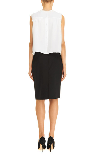 Bow Detail Silk Crepe Top by MARC JACOBS Now Available on Moda Operandi