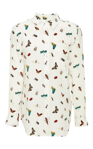 Reese Printed Washed Silk Shirt by EQUIPMENT Now Available on Moda Operandi