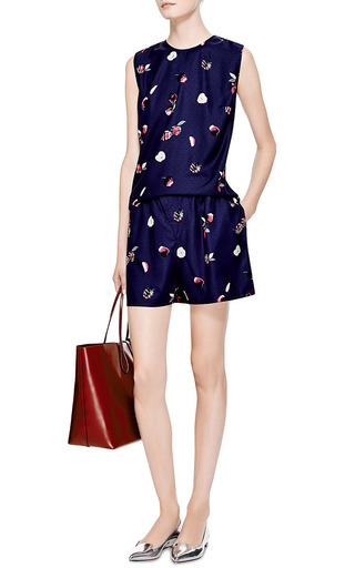 Karen Printed Silk Tank by PIAMITA Now Available on Moda Operandi