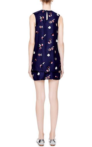 Dania Apple Print Silk Shorts by PIAMITA Now Available on Moda Operandi