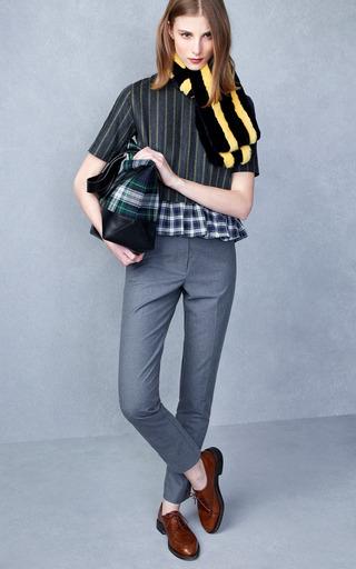 Gillian Tailored Tee With Ruffle Bottom by KULE for Preorder on Moda Operandi