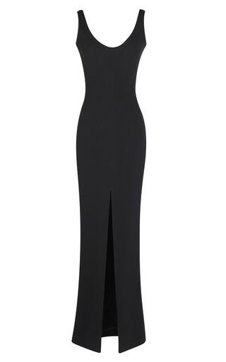 Medium martin grant black slit front siren gown 2