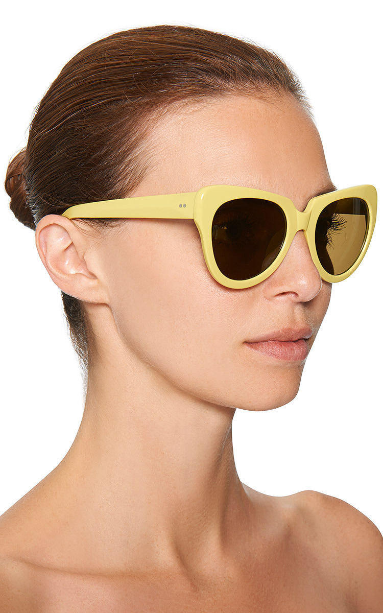 e9e6166990 Linda FarrowFor Dries Van Noten Cat-Eye Acetate Sunglasses. CLOSE. Loading