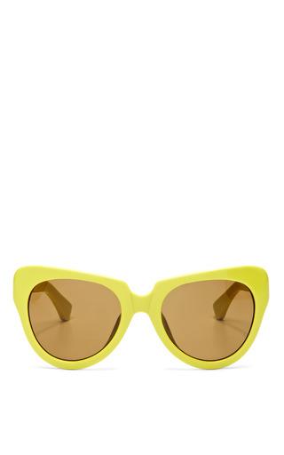 For Dries Van Noten Cat Eye Acetate Sunglasses by LINDA FARROW Now Available on Moda Operandi