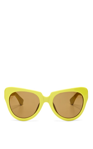 Medium linda farrow yellow dries van noten yellow sunglasses with brown lens